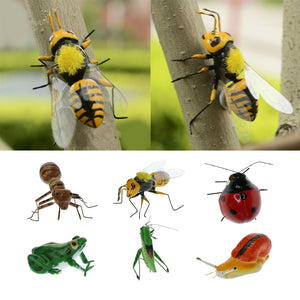 VARIOUS Animal Summer Insect Statue Yard Tree Lawn Ornament Sculpture Decoration Garden Craft Desktop Ornament Garden Decor