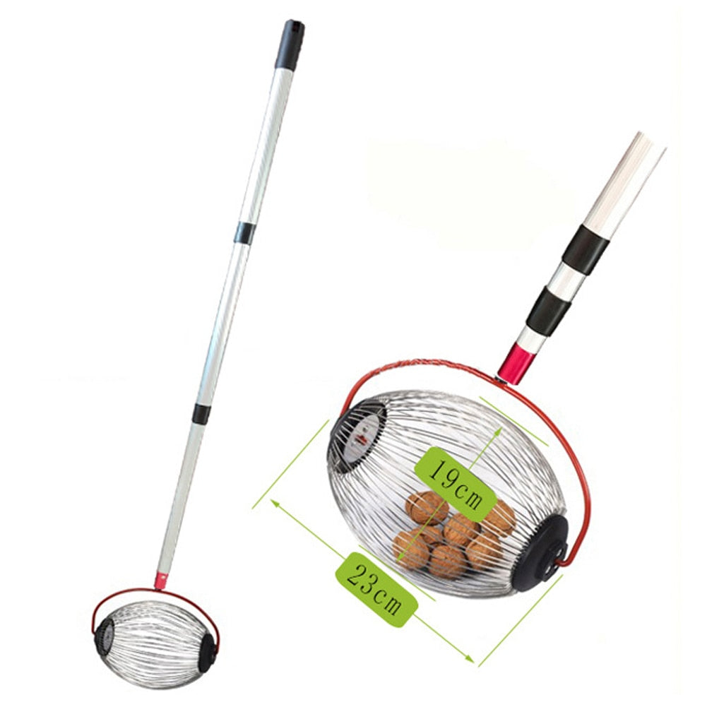 Walnuts Chestnuts Harvester Roller Nut Collector Retractable Aluminum Alloy Ball Garden Fruit Picker Family Orchards Tool NEW