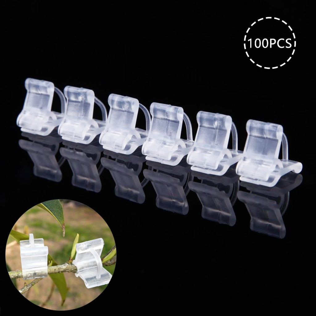 100 Pcs/set Mini Grafting Clips Plastic Transparent Vegetable Flower Plants Grafting Clips Gardening Ornaments Tools