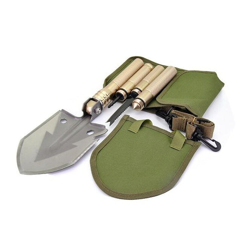 Professional Outdoor Survival Military Snow Shovel Folding Multifunctional Camping Tactical Trowel Shovel DIY Garden Tools