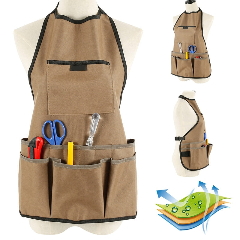 Tool Apron Multifunctional Adjustable Belt Professional Waterproof Oxford Cloth Garden Tools Apron Heavy Duty Work Garden Aprons