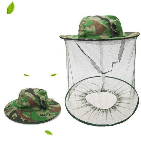 Anti Insect Bee Fly Face Mask Cap Protective Mesh Cover For Beekeeping Beekeeper Clothes Head Net Hat Wide Brim Protect Garden