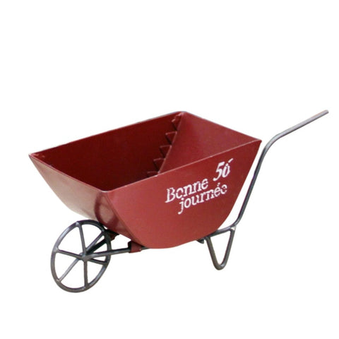 Mini Metal Decorative Wheelbarrow Garden Backyard Flower Pot Indoor Outdoor Home Decor Ornaments Small Cart Decoration Gift