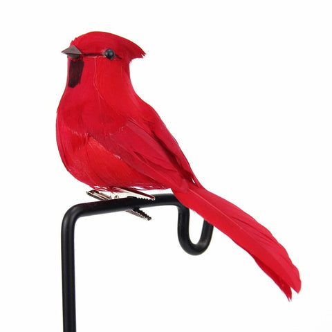 1pc Artificial Foam Feather Simulation Bird DIY Party Crafts Ornament Props Home Garden Christmas Tree Foam Fake Bird Decoration