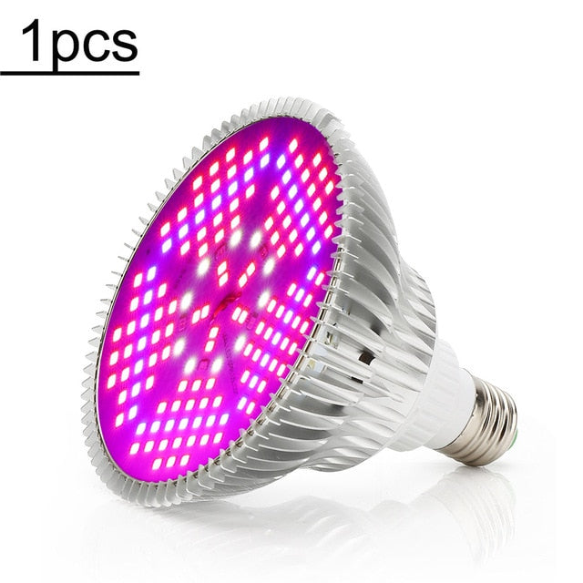 100W Full Spectrum LED Grow Light 150LEDs Plant Lamp Led Bulb for Plants Aquarium Flowers Seeds Garden Vegetables Greenhouse E27