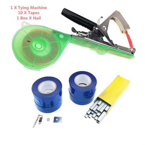 Garden Tools Plant Tying Tapetool Tapener Machine Branch Hand Tying Machine Tapetool Tapener Packing Vegetable Stem Strapping