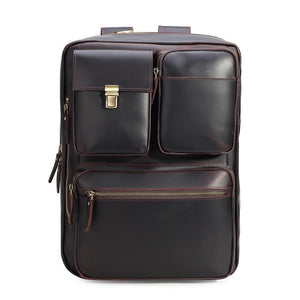 High quality leather briefcase can convert to backpack