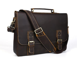 High quality top grain leather durable business briefcase