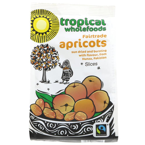 Tropical Wholefoods Fairtrade Apricots 125g