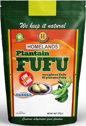 Homelands Plantain Fufu 1.5kg