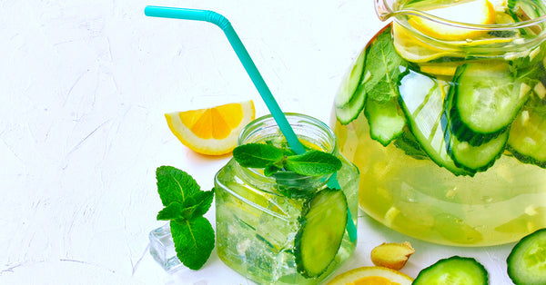Lemon Ginger Cucumber Belly Slimming Detox Water