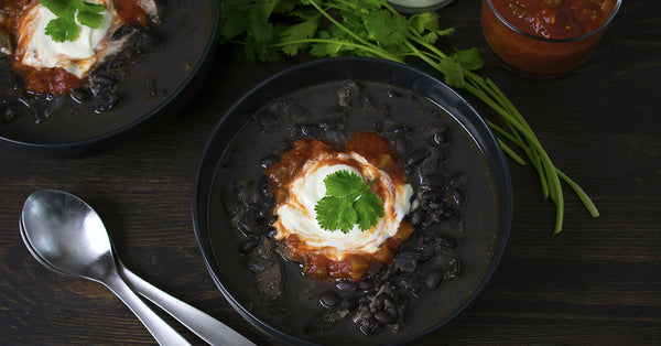 Cuban Style Black Beans with Smoked Turkey