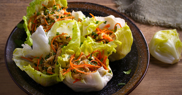 Thai Peanut Chicken Iceberg Lettuce Wraps