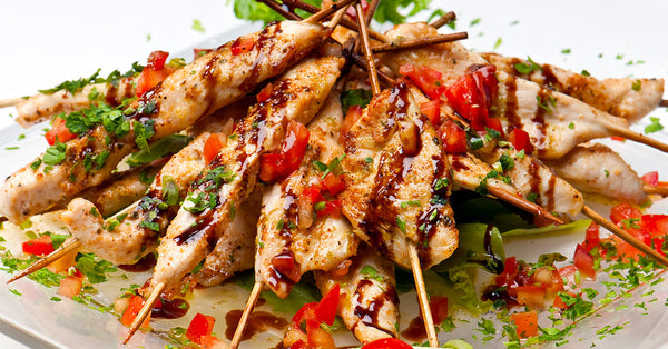 Chicken Sticks with Balsamic Tomato Drizzle
