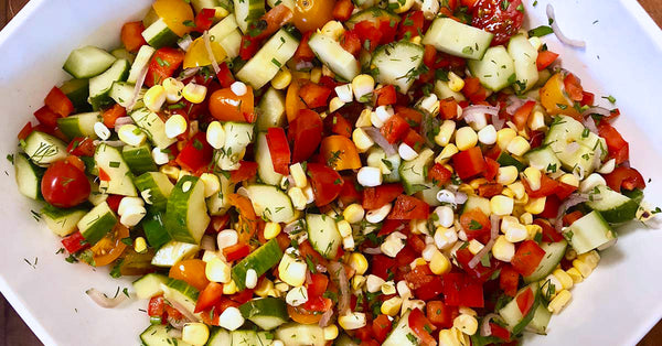 Garden Fresh Summer Salad with Buttermilk Vinaigrette
