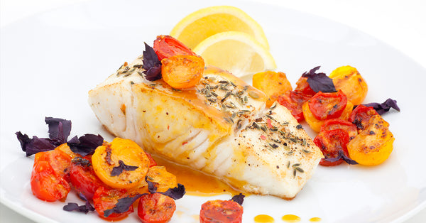 Pan Cooked Halibut with Tomato Butter Sauce