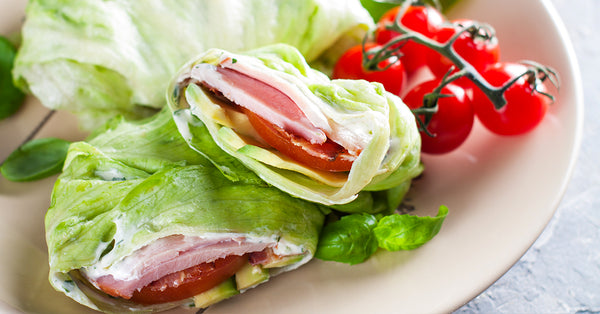 Ham and Avocado Tomato Lettuce Wrap