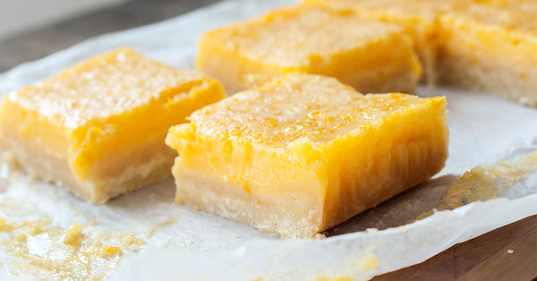 No Sugar Lemon Bars
