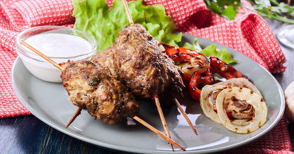 Lamb Kebabs with Cucumber Dipping Sauce