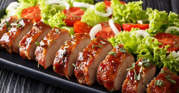 Protein & Vegetables! Roasted Pork Tenderloin with Salad
