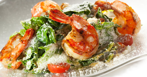 Shrimp Caesar. When it is too hot to cook!