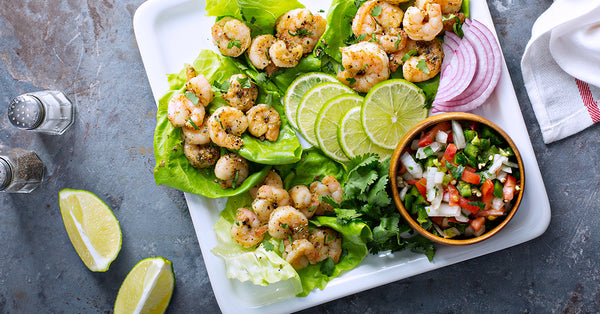 Shrimp Tacos in Lettuce Cups