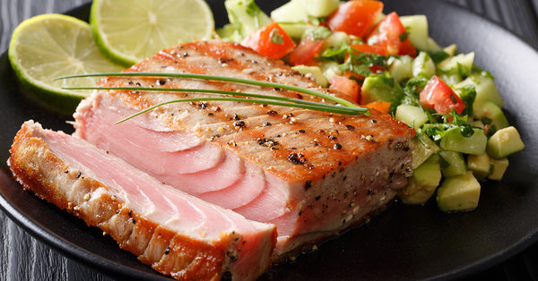 Seared Tuna with Summer Salad