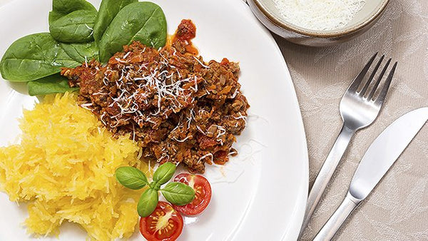 Meat Sauce with Roasted Spaghetti Squash. Now THAT'S Italian!