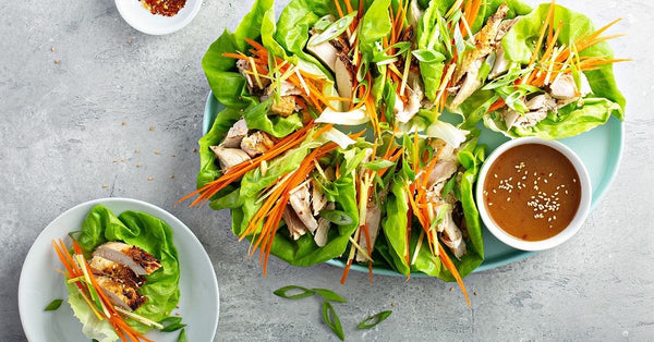 Thai Peanut Sauce with Chicken Lettuce Cups