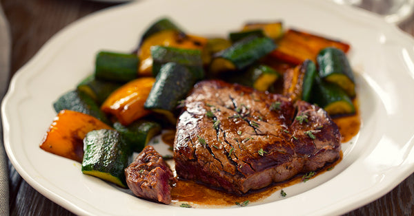 Filet of Beef with Sautéed Vegetables