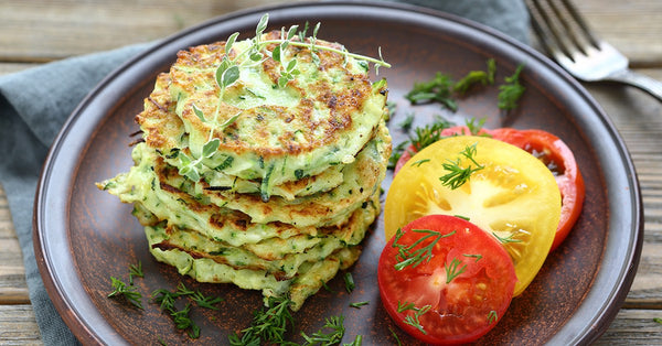 Zucchini Pancakes with Ranch Dressing