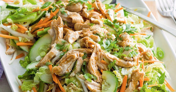 Asian Turkey Salad with Peanut Dressing