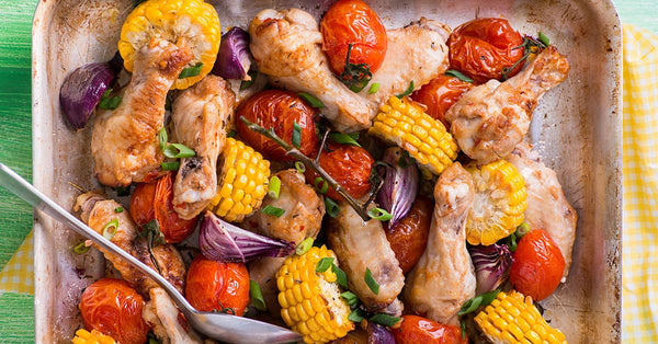 Sheet Pan Meal: Chicken & Corn Roast
