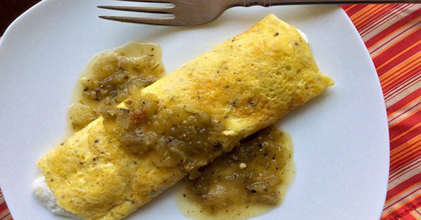 Egg 'Crepe' with Ricotta & Salsa