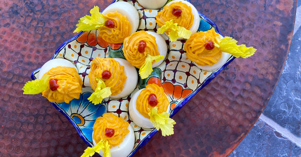 Gochujang Deviled Eggs