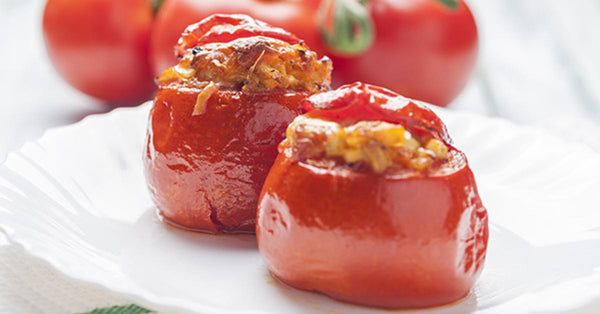 Cheesy Pizza Stuffed Tomatoes