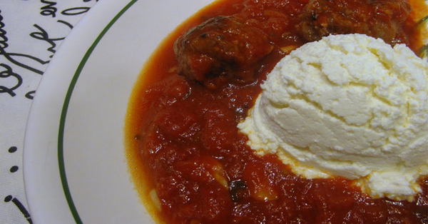 Ricotta with Red Sauce