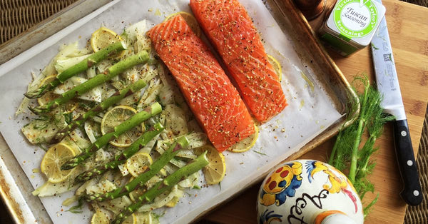 Sheet Pan Meal: Salmon and Vegetables