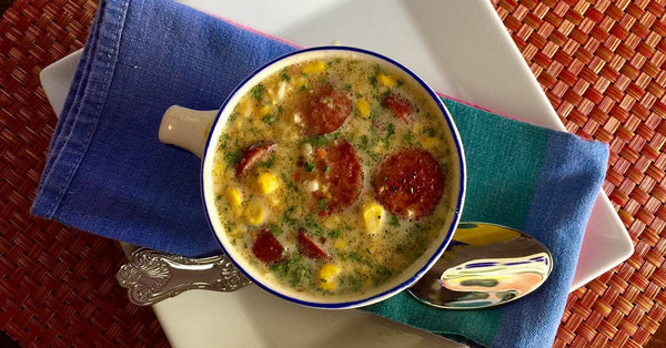 Smoked Sausage Corn Chowder - Heat & Eat - The Inspire Diet