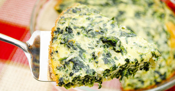 No Crust Spinach and Swiss Quiche