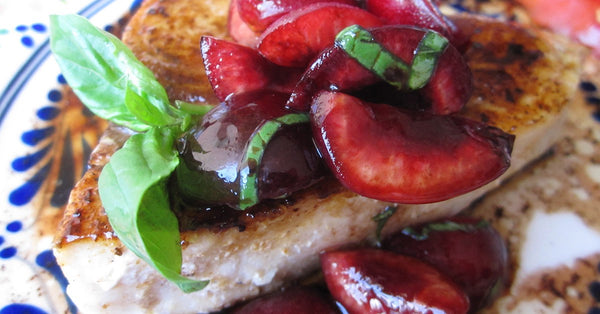 Grilled Swordfish with Bing Cherry Salsa