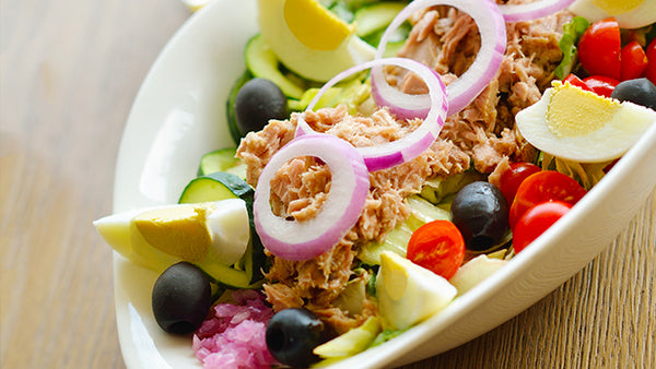 Tuna Salad Bowl - Blue Plate Special when it's too hot to cook!