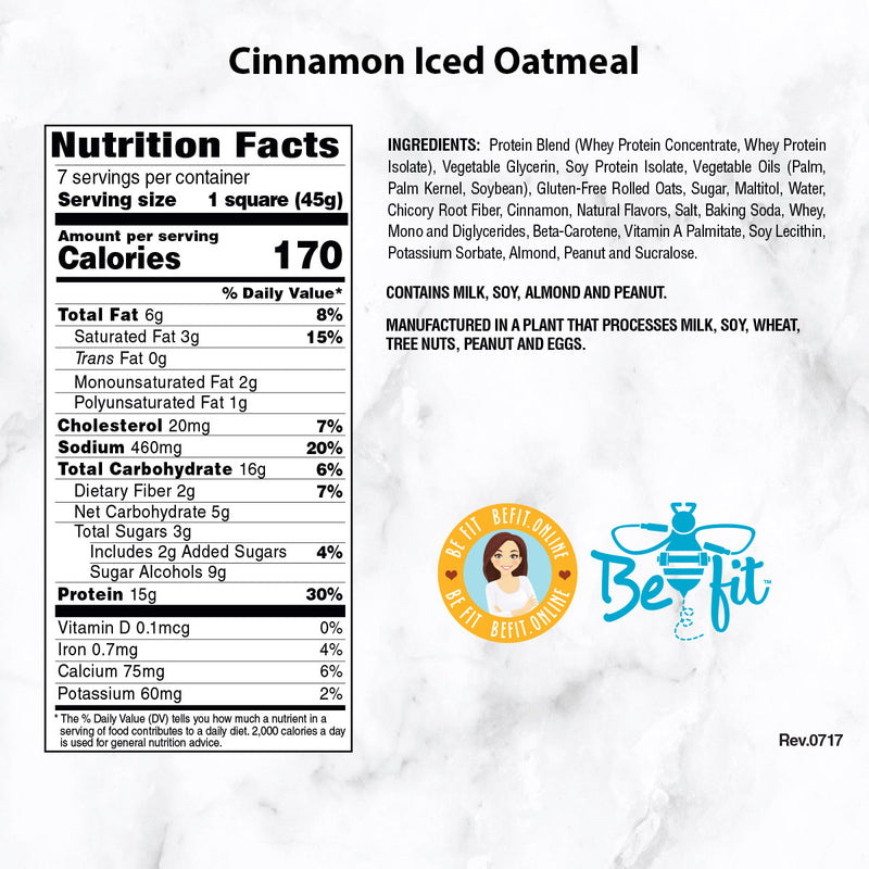 Inspire Protein Squares, Cinnamon Iced Oatmeal - 7 servings