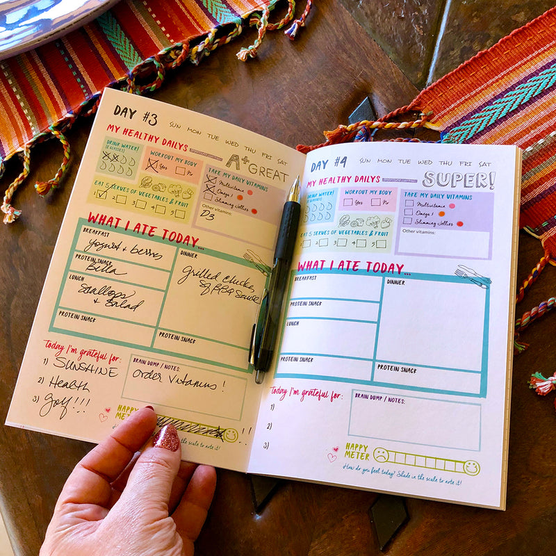 28 Day Tracker Food Journal