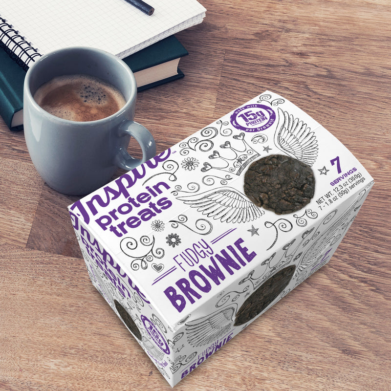 Inspire Protein Treats, Fudgy Brownie - 7 servings