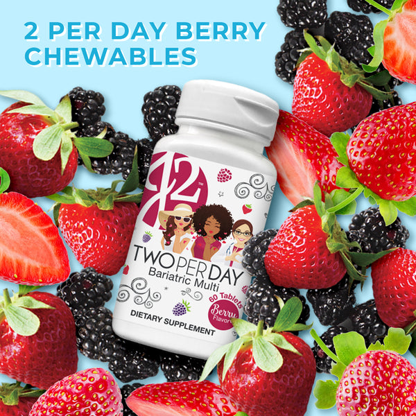J2 Two-per-Day Berry Chewable Bariatric Multivit