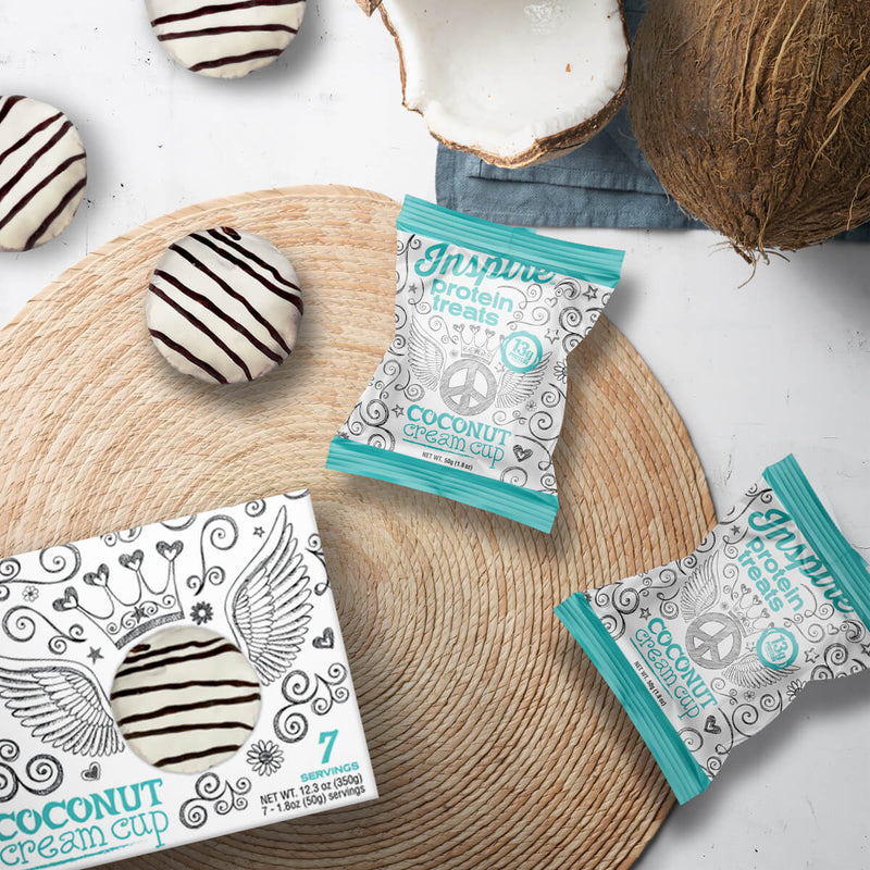 Inspire Protein Treats, Coconut Cream Cup - 7 servings