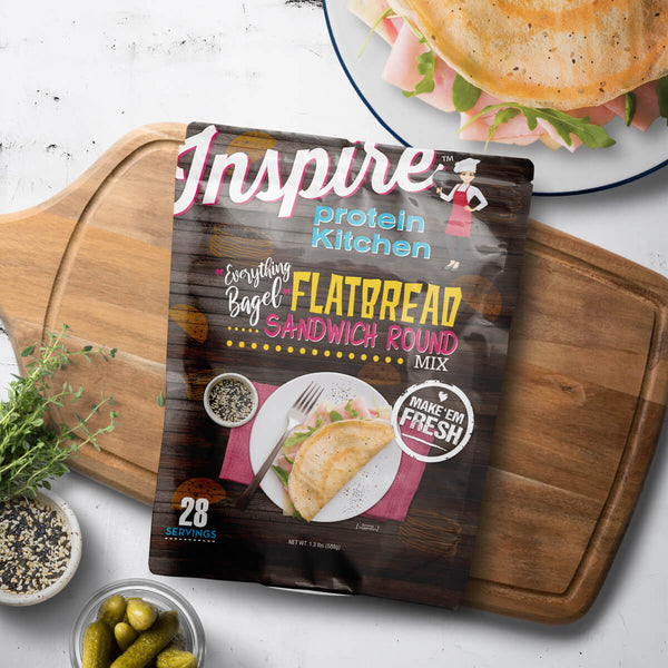 Inspire Protein Kitchen 'Everything Bagel' Flatbread Rounds - 28 servings