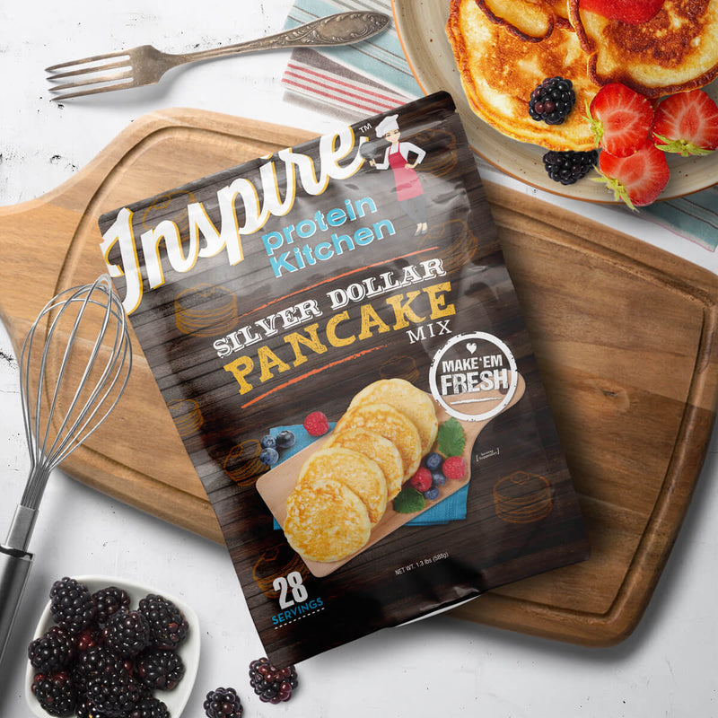 Inspire Protein Kitchen Silver Dollar Pancakes - 28 servings