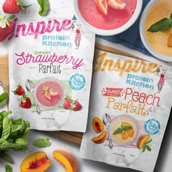 Inspire Protein Kitchen Parfait, Peach or Strawberry - 15 servings